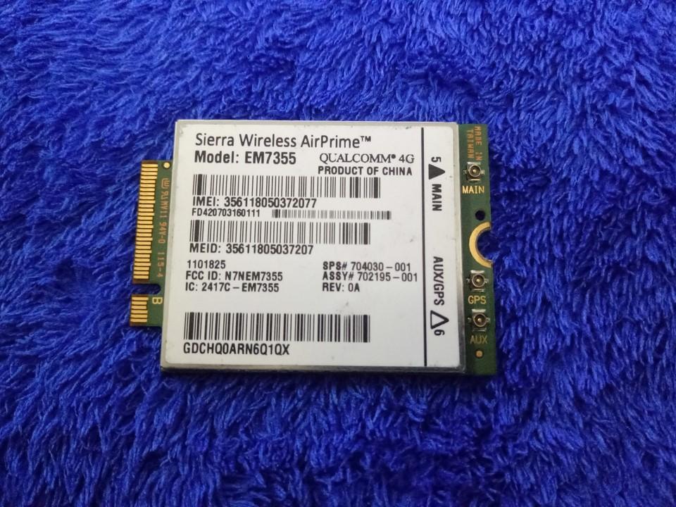 Giá Card wwan 4G HP LT4111 Sierra EM7355 dùng cho HP 820 G1,840 G1, 850 G1, Folio 9480M, Zbook 15, 17