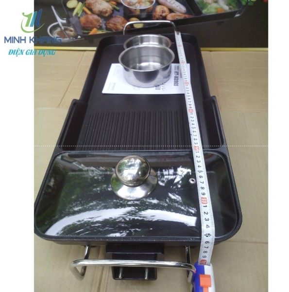 Bếp lẩu nướng vỉ lẩu nướng điện Holtashi HT M2865 Nhật Bản Bảo hành 18 tháng