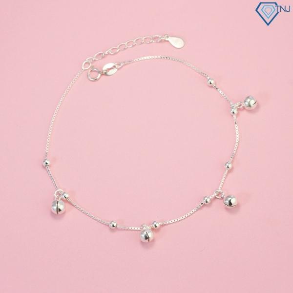 ▦  Lắc chân bạc có chuông lắc chân bạc nữ đẹp giá rẻ LCN0022 - Trang Sức TNJ