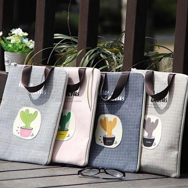 Túi vải đa năng đựng tài liệu, hồ sơ a4, ipad, macbook, máy tính bảng có khóa kéo và quai cầm tiện lợi mã SEP44