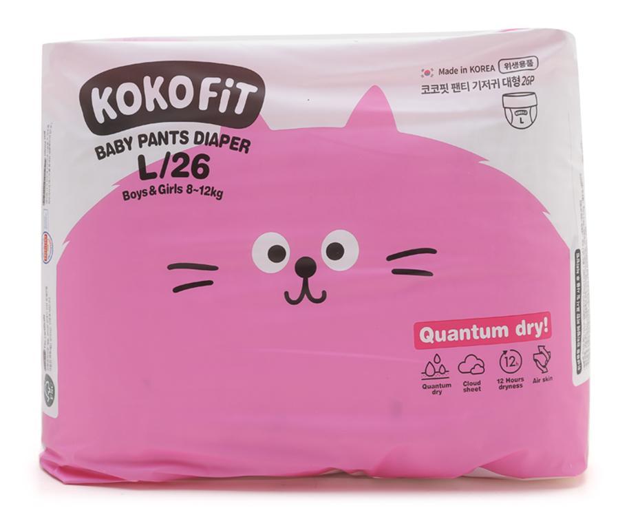 Tã/Bỉm Quần KOKO FiT Size L (Mèo) 26 Miếng/bịch Dành Cho Bé Từ 8 - 12kg Giá Tốt Duy Nhất tại Lazada