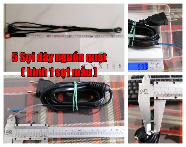 5 sợi dây nguồn quạt DN050-2m2