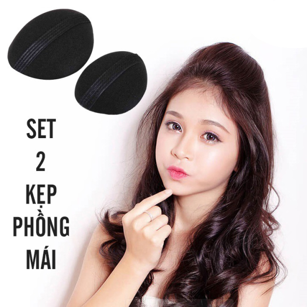 SET 2 đệm phồng tóc mái loại tròn, đồ dùng cho nữ, phụ kiện về tóc, phụ kiện thời trang, (DPM02), Huy Linh