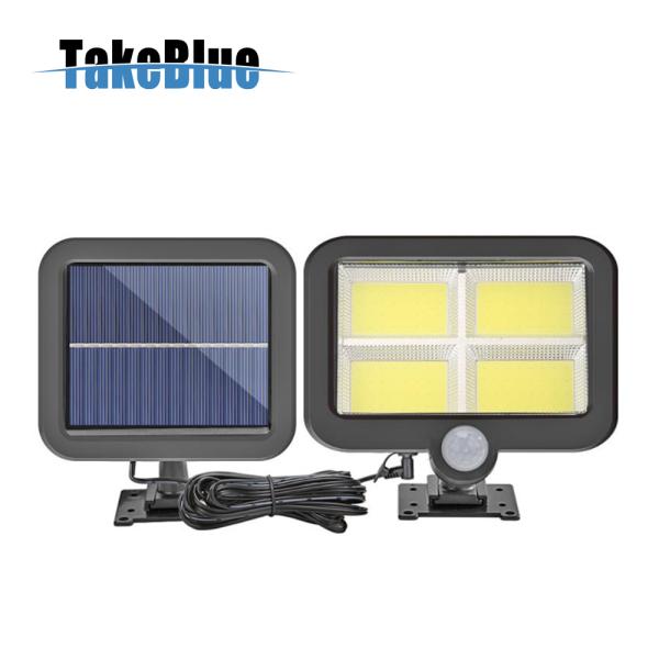 TakeBlue đèn năng lượng mặt trời 128 LED Cảm biến chuyển động