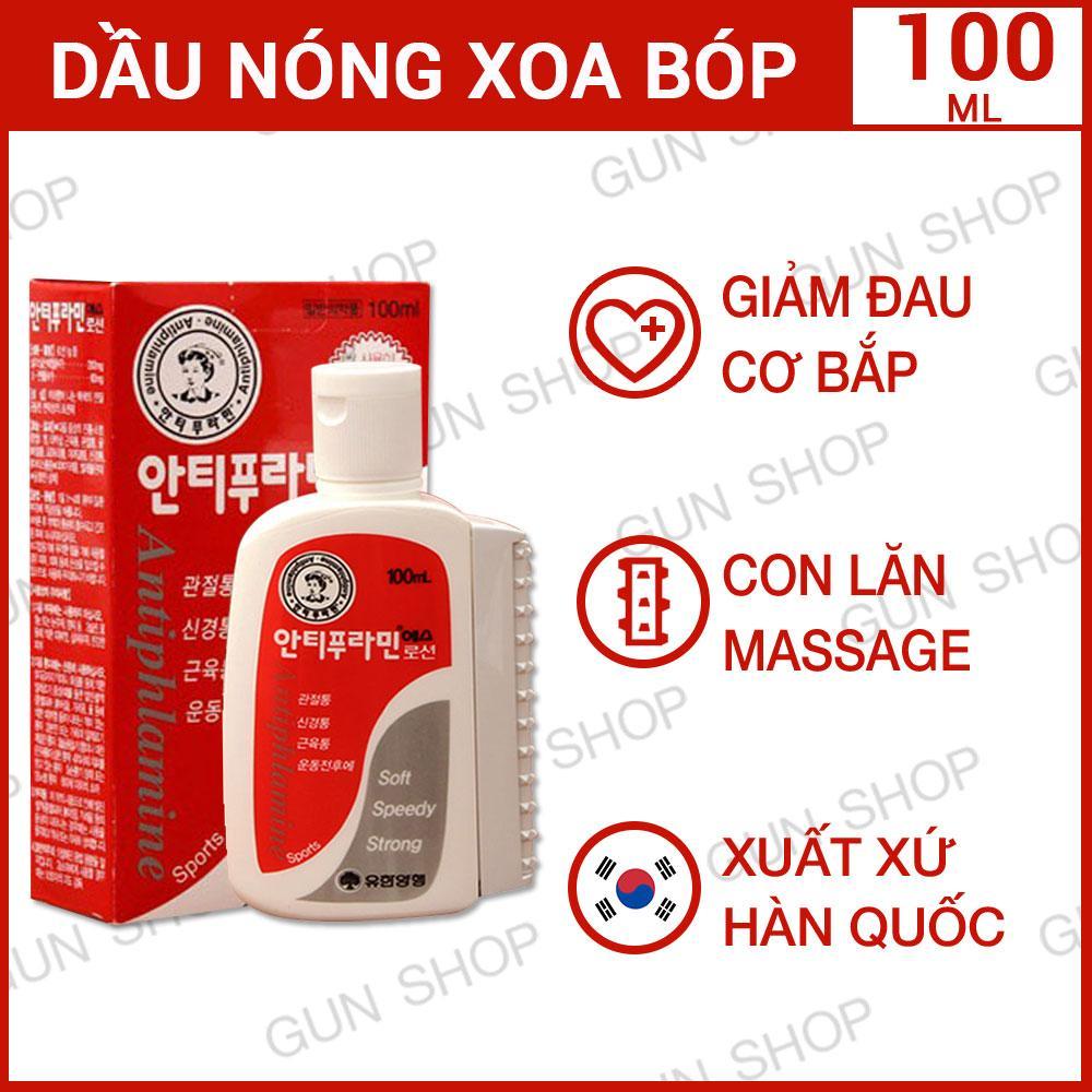 Dầu nóng Hàn Quốc Antiphlamine - Xoa bóp nhức mỏi - 100ML  - [GUNSHOP] nhập khẩu