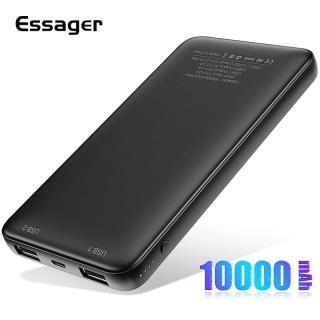 Essager Slim Power Bank 10000mah Dual USB Powerbank Dành cho Xiaomi mi 9 iPhone 10000 mAh Pin sạc di động Poverbank Pin ngoài thumbnail