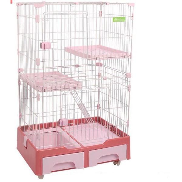 [Giá Đẹp- Hàng Chuẩn] Lồng Nhựa- Chuồng 2 Tầng Cho Mèo Kèm Chậu Vệ Sinh Tiện Lợi- Màu Sắc Xinh Xắn- Sơn Chống Rỉ