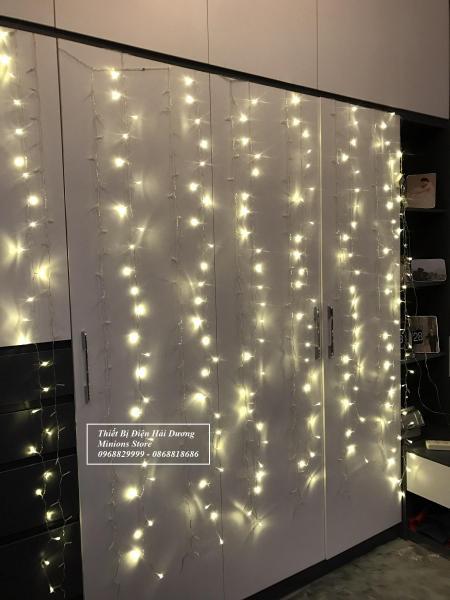 Đèn Led nháy rèm 2 mét 8 dây 8 chế độ nháy trang trí tết TN282 - Có Video.  Chuỗi đèn đem đến cho bạn hiệu ứng ánh sáng lãng mạn