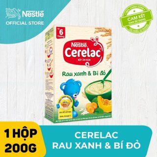 Bộ 2 hộp Bột ăn dặm Nestlé Cerelac 200g Rau Xanh & Bí Đỏ + Tặng 1 lục lạc cầm tay thumbnail
