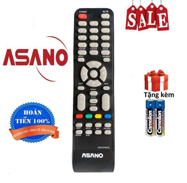 Bảng giá Điều khiển tivi Asano, remote tv Asano - Hàng chuẩn [ tặng kèm pin, bảo hành đổi trả 30 ngày ]