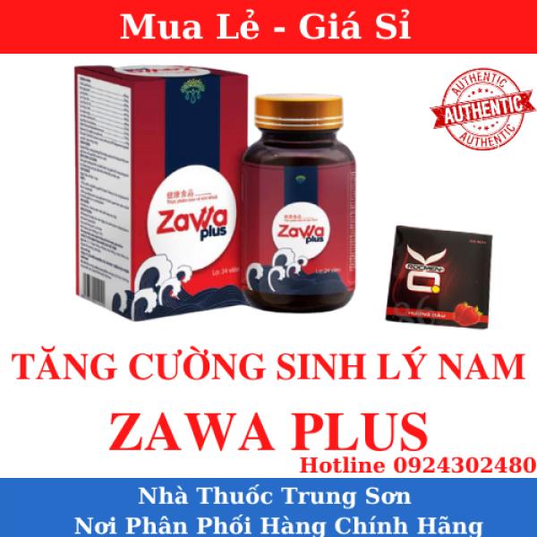 [HCM]Zawa Plus Viên Uống Tăng Cường Sinh Lí Nam Chính Hãng - hộp 24 viên- TS01
