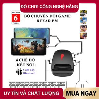 Bộ chuyển đổi game REZAR P30 dùng chuột và bàn phím cho điện thoại chơi game PUBG, Call of Duty,... kết nối 4 chế độ có dây và không dây - BẢO HÀNH 6 THÁNG thumbnail