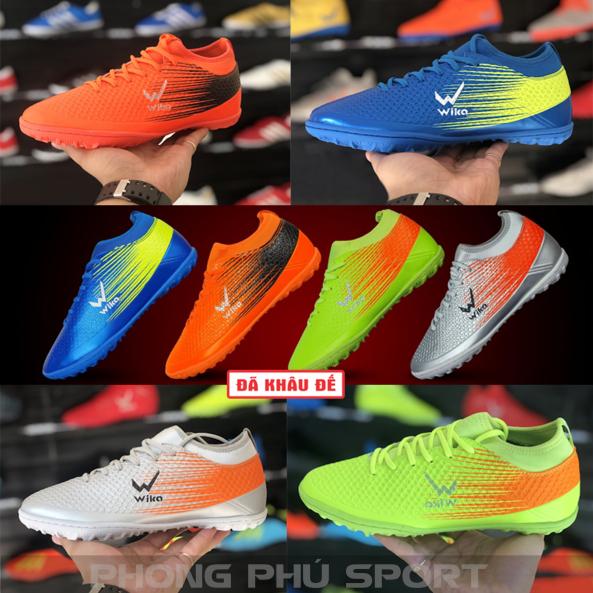 Giày Đá Bóng Wika Flash ⚡ Giày đá banh đinh TF sân cỏ nhân tạo Full Box giá rẻ