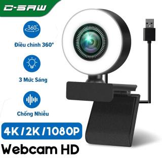 C-SAW Webcam Full HD 4K 2K Camera Web Tự Động Lấy Nét Có Micrô Cho PC Laptop 1080P Web Cam Cho Hội Nghị Nghiên Cứu Trực Tuyến Youtube thumbnail