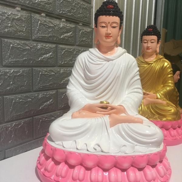 Mua Tượng Bổn Sư Trắng -Sen Hồng-50 cm