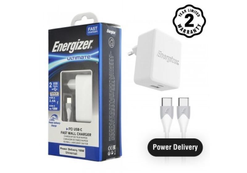 Sạc Energizer 2 USB 30W PD 18W - AC11PFEUUCC3