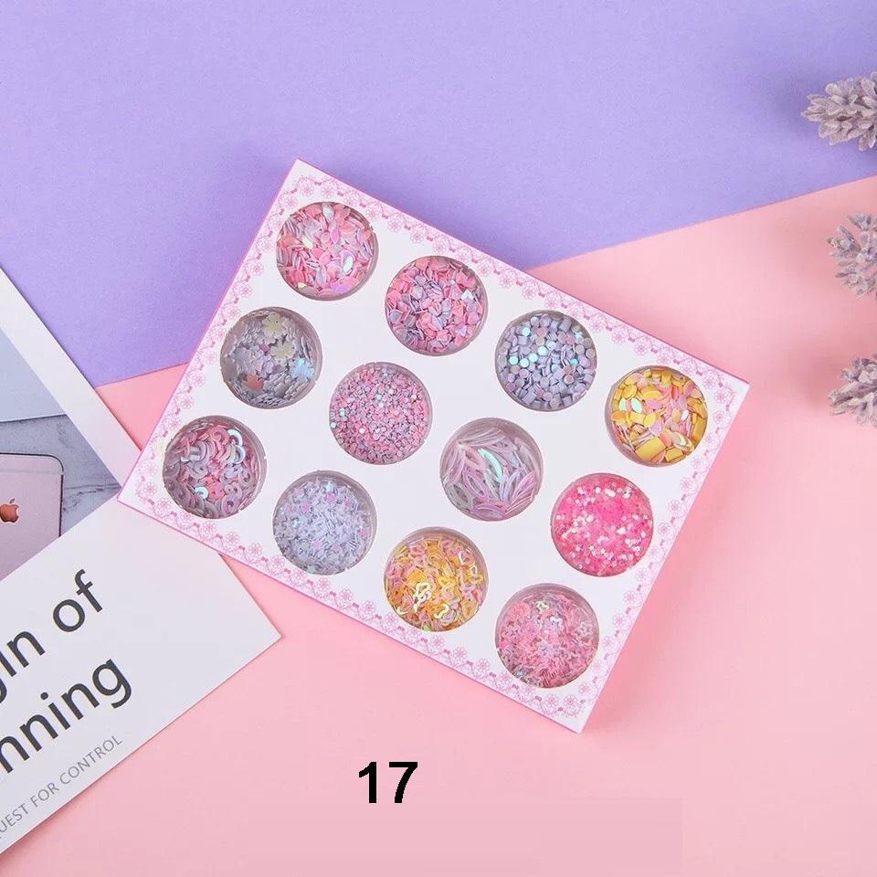 Set 12 Hũ Glitter Nhũ Kim Tuyến Kira Kira Makeup Lấp Lánh Phong Cách Hàn Quốc - VANI STORE tốt nhất