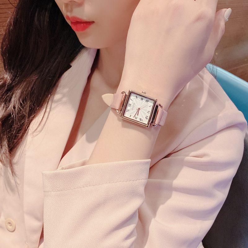 Đồng hồ nữ Julius Hàn Quốc JA-1266 dây da (Chọn màu)