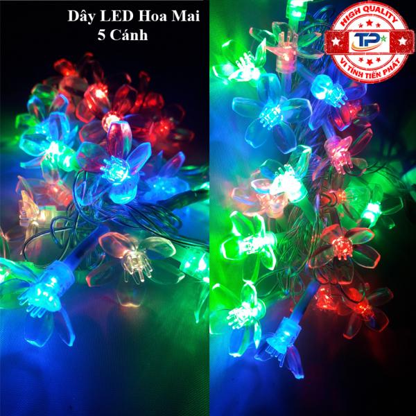 Bảng giá Dây đèn Led bông hoa 5 cánh dài 4m nhấp nháy nhiều màu dùng trang trí Sân Vườn, Gia Đình, Quán, Noel, ... Chúc Mừng Năm Mới quà Tết 2021