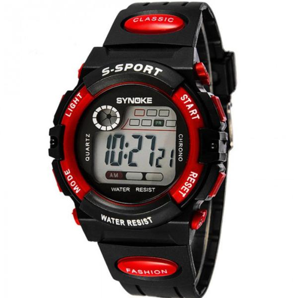 Đồng hồ thể thao trẻ em dây nhựa Synoke  99269 (Đỏ) bán chạy