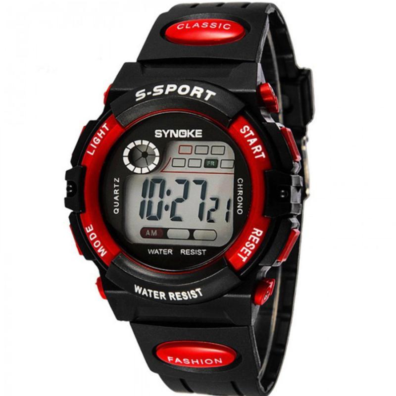 Nơi bán Đồng hồ thể thao trẻ em dây nhựa Synoke  99269 (Đỏ)