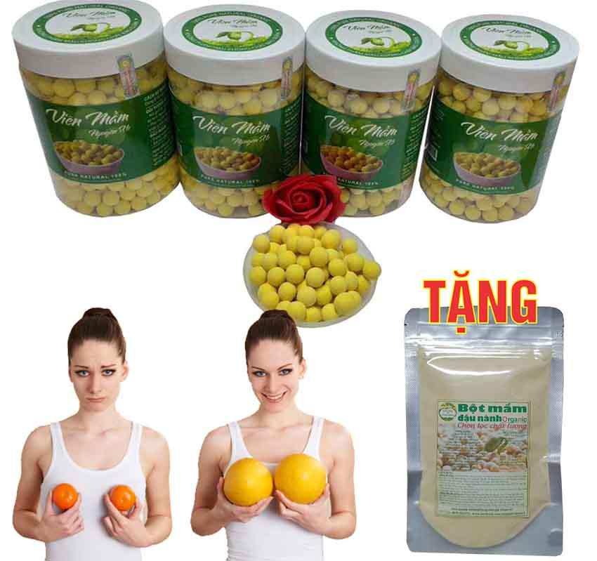 [500G] Viên Mầm Đậu Nành Nguyên Xơ (Tặng 100G bột mầm đậu nành)