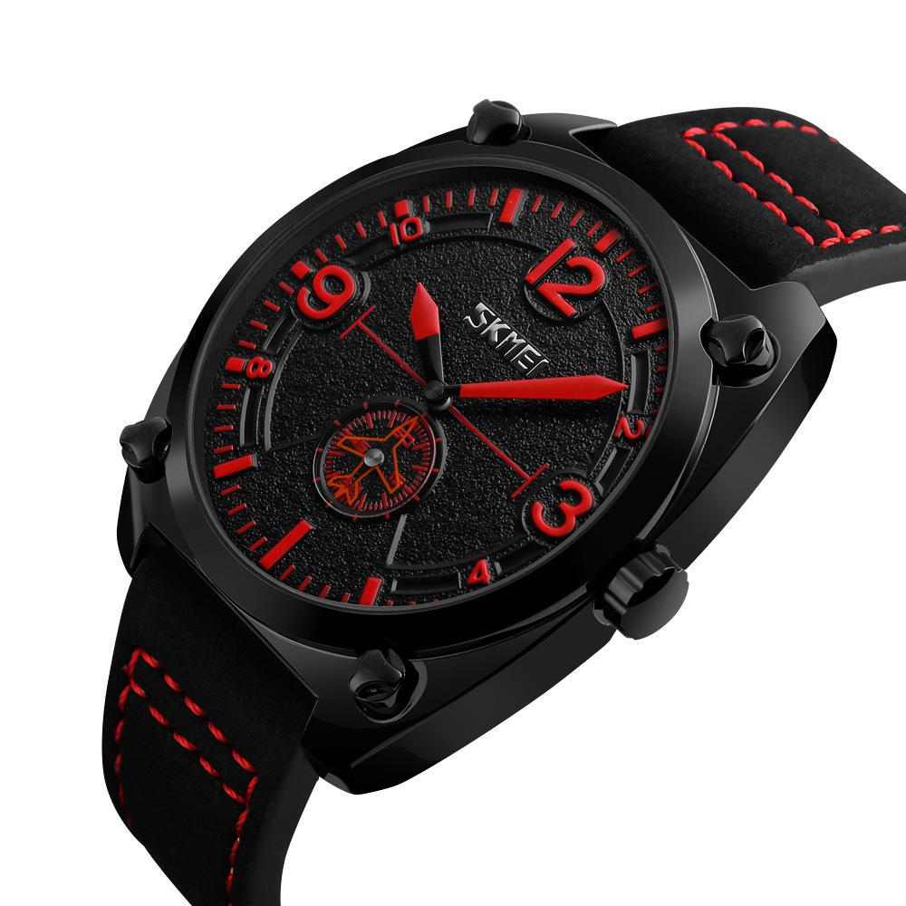 Đồng hồ nam SKMEI 9155 dây da 2 kim cao cấp bán chạy
