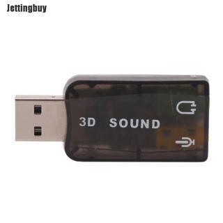 Jettingbuy Pop USB5.1 Đến 3.5Mm Mic Tai Nghe Jack Tai Nghe Âm Thanh Nổi 3D Bộ Điều Hợp Âm Thanh Thẻ Âm Thanh thumbnail