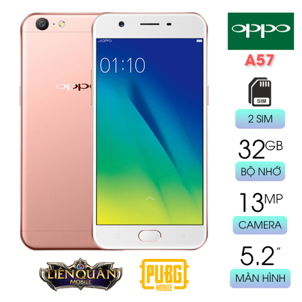 Smartphone giá rẻ chơi game tốt Oppo A57 RAM 3GB bộ nhớ 32GB