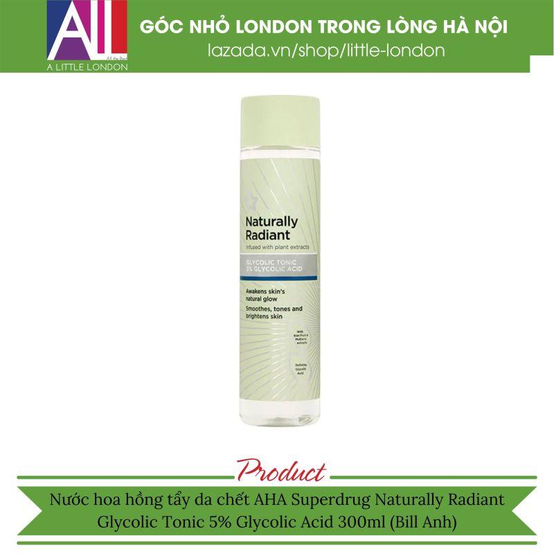Nước hoa hồng tẩy da chết AHA Naturally Radiant Glycolic Tonic 5% Glycolic Acid (Bill Anh) giá rẻ