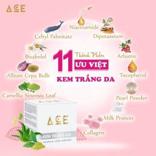 Combo dưỡng trắng da, Kem trắng da chống nắng 12g, Serum đa năng vitamin C - mỹ phẩm ACE - Mỹ Phẩm Kim Ngân thumbnail
