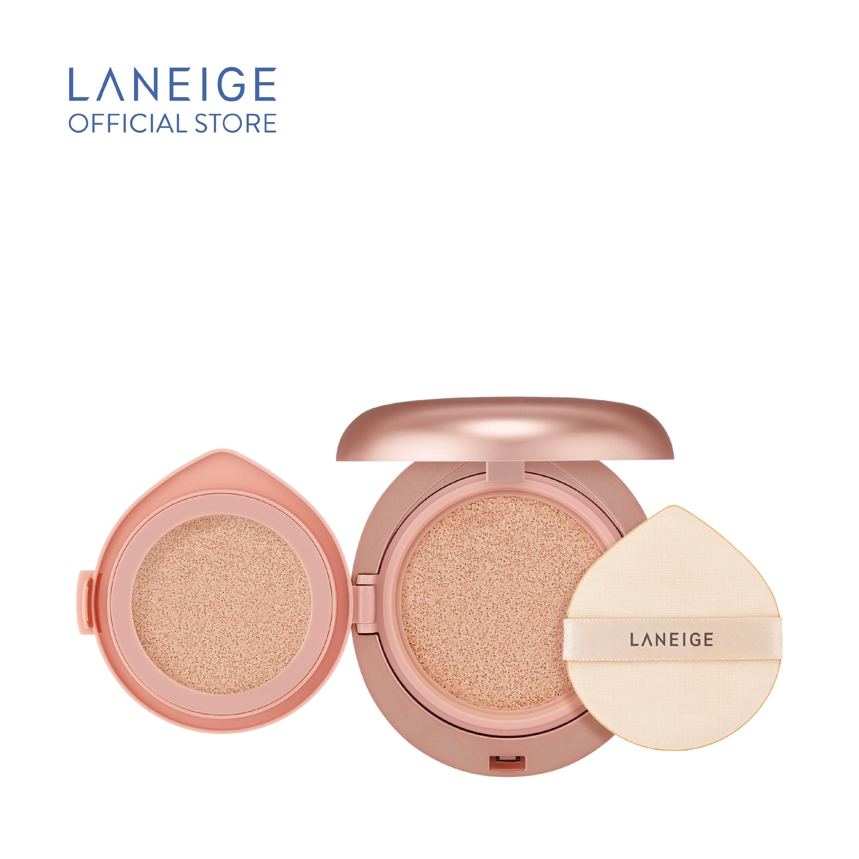 Kem phấn nền 2 lần che phủ Laneige Layering Cover Cushion & Concealing Base (14g + 2.5g) cao cấp