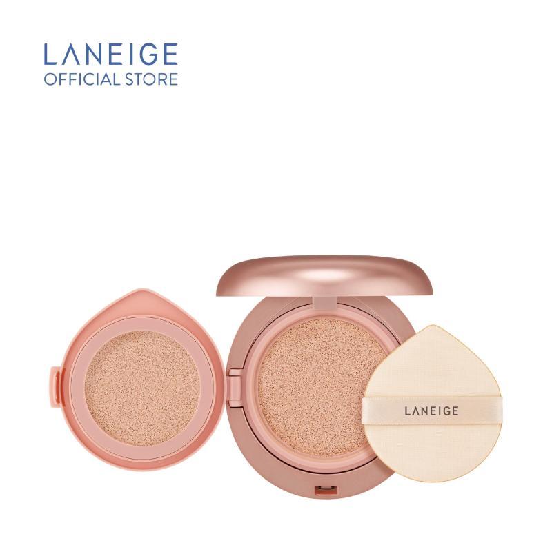 Kem phấn nền 2 lần che phủ Laneige Layering Cover Cushion & Concealing Base (14g + 2.5g)