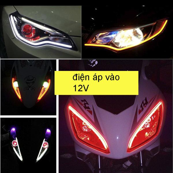 1 dây LED audi uốn dẻo 30cm viền mí xe máy ô tô đủ màu chọn - K30
