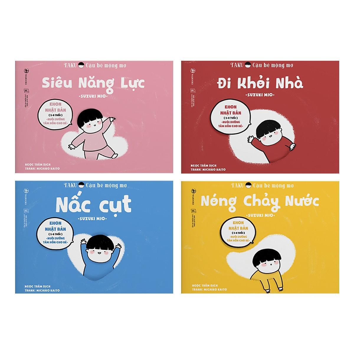 Mua Combo 4 quyển Ehon Taku cậu bé mộng mơ