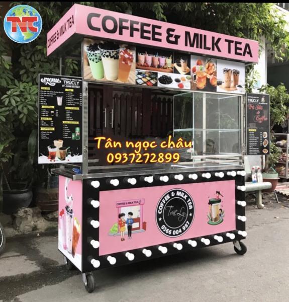 Xe trà sữa sinh tố thiết kế độc quyền miễn phí cơ khí Tân Ngọc Châu
