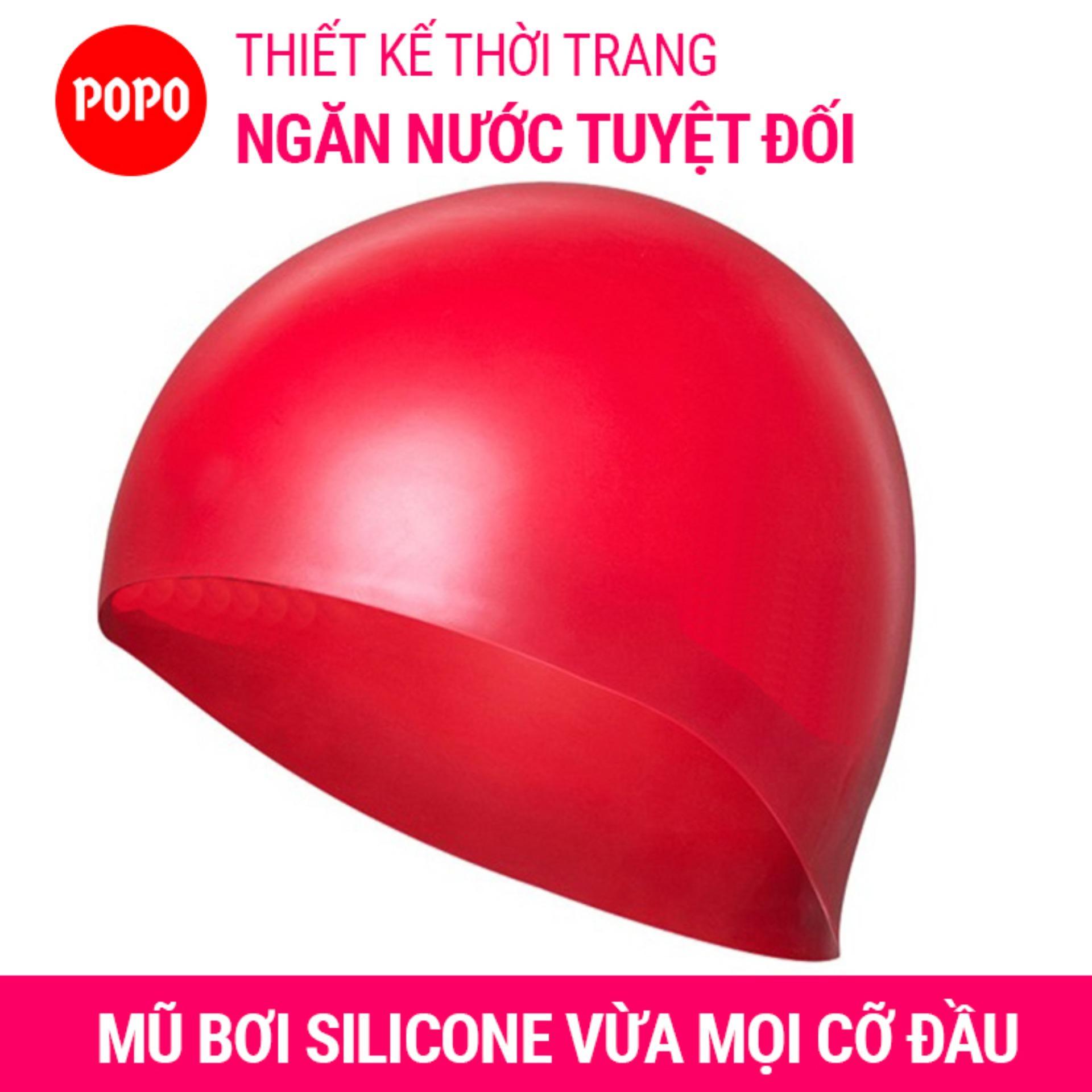 Nón bơi mũ bơi trơn silicone chống thống nước cao cấp CA31 POPO Collection 13