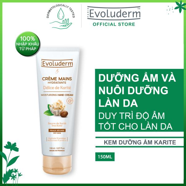 Kem dưỡng ẩm làm mềm bảo vệ da tay chiết xuất Karite Evoluderm 150ml giá rẻ