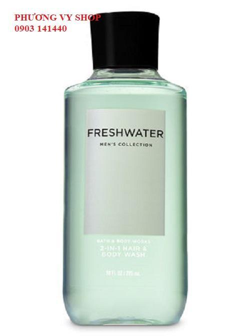 Gel tắm gội 2 in 1 BBW FRESHWATER dành cho nam nhập khẩu
