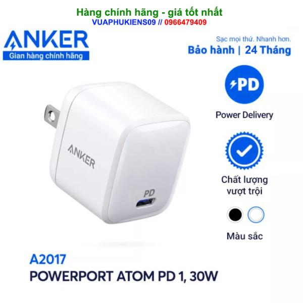 Củ sạc ANKER A2017 30w PowerPort Atom PD mini - Bảo hành 2 năm ( Mới 100% )