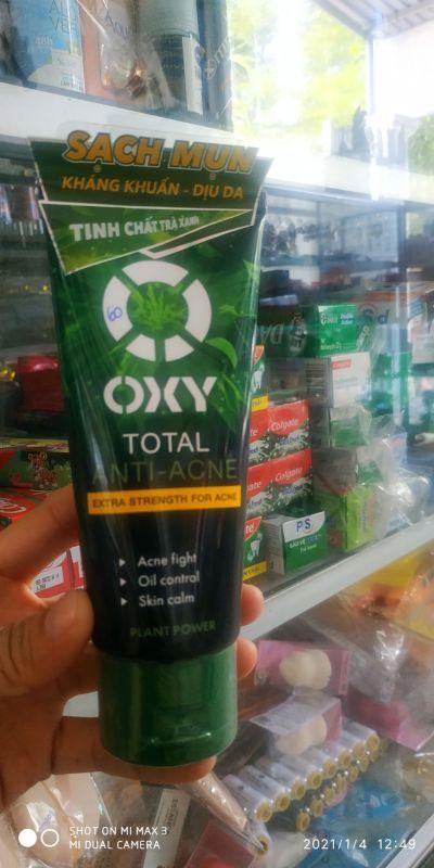 Kem rửa mặt sạch khuẩn mụn kiểm soát nhờn OXY Total Anti Acne 100g giá rẻ