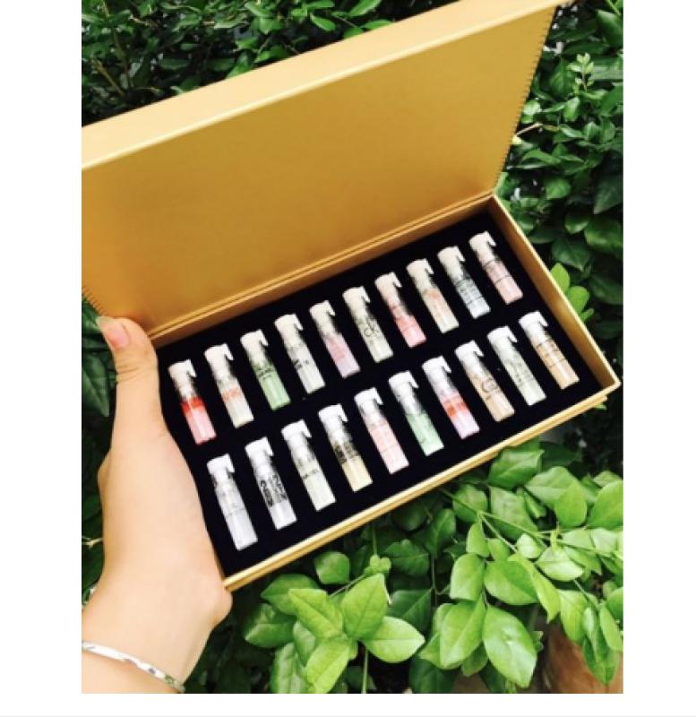 [ MIỄN PHÍ VẬN CHUYỂN ] Bộ 20 chai nước hoa test mini hộp vàng - Sét 20 chai nước hoa mẫu thử cao cấp
