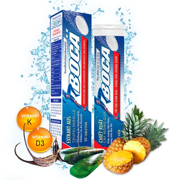 Viên sủi hỗ trợ giảm triệu chứng sưng, đau do viêm khớp BOCA 20 Viên giá rẻ