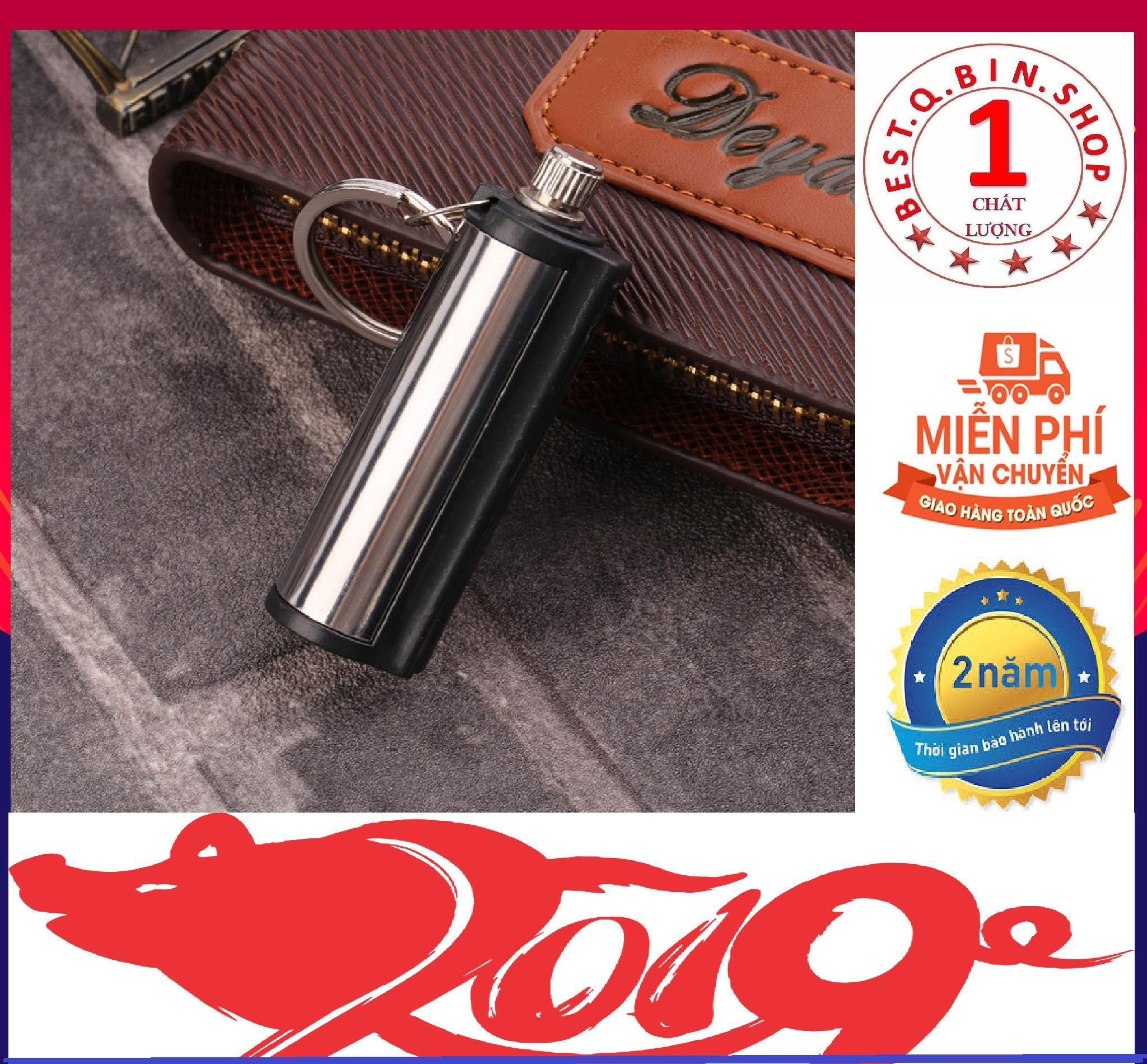 [ HÀNG ĐỘC ] Diêm Vĩnh Cửu - Que Diêm Vĩnh Cửu - Diêm xăng - Móc Treo chìa khóa -Bật lửa diêm xăng - Bật Lửa - Bật lửa xăng - Hộp quẹt siêu bền - Diêm vĩnh cửu kèm móc treo chìa khóa - Qbin Shop - Maitoshi - LAXDA