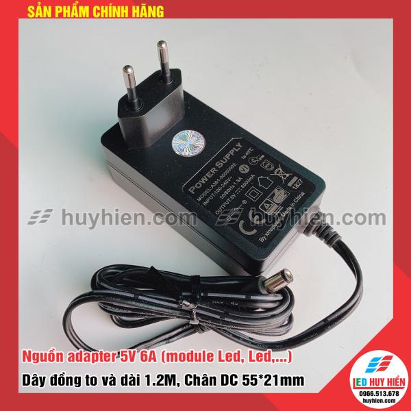 Bảng giá Nguồn adapter 5V 6A (Nguồn nhựa Adaper 5V5A, 5V6A chuyên cho led, module led)