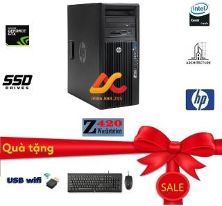 HP Z420 WorkStatio (Intel Xeon E5 2670 ( 3.3Ghz) Ram ECC 32GB SSD 256GB + HDD 1000GB Card màn hình QuaDro K2000 cho hình ảnh 4D 8D ) - Máy tính cho đồ họa cao cấp Chơi game - Bảo hành 12 tháng - tặng bàn phím chuột và bàn di chuột và USB thumbnail
