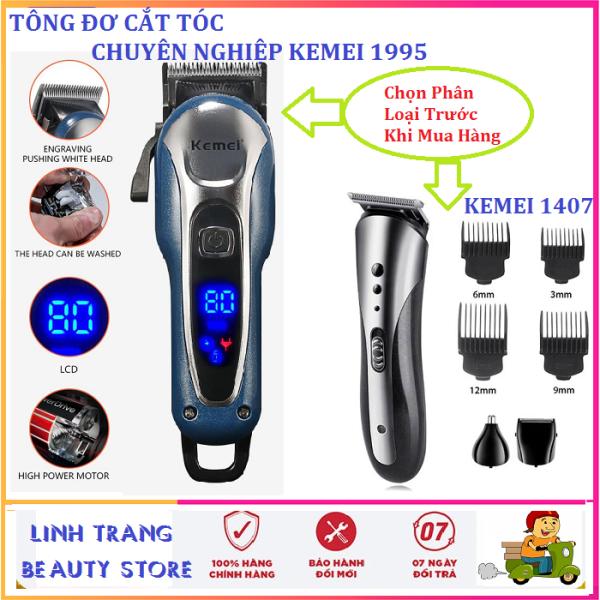 [HÓT] Tông Đơ Hớt Tóc,Tông đơ Cắt tóc Không dây chuyên nghiệp có 2 mức điều chỉnh tốc độ màn hình LCD Kemei KM-1995 cắt tóc gia đình, cắt tóc trẻ em người lớn( shop có 2 lựa chọn)