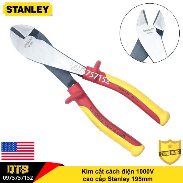 Kìm cắt cách điện 1000V cao cấp Stanley 195mm, kìm cách điện chuẩn VDE, GS, thép đặc biệt công nghệ cao