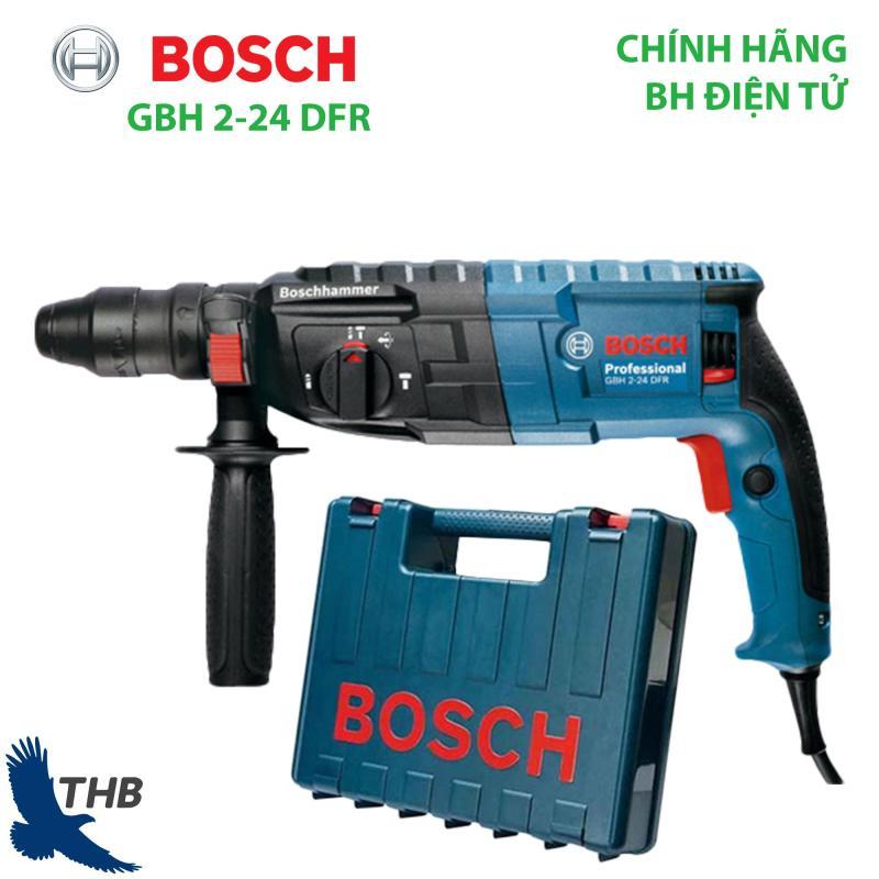 Máy khoan búa Máy khoan bê tông Bosch GBH 2-24 DFR Thay đầu cặp dễ dàng để khoan gỗ và sắt Công suất 790W Bảo hành 12 tháng