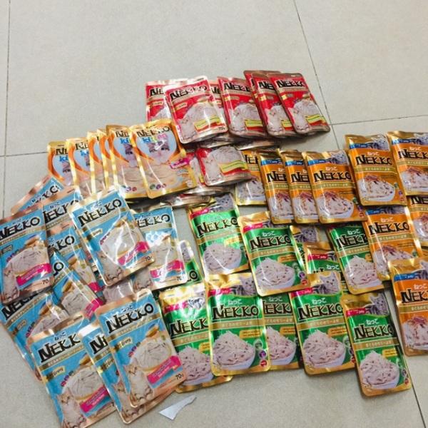 Combo thùng 12gói pate mèo Nekko(mix nhiều vị, khách được chọn vị)